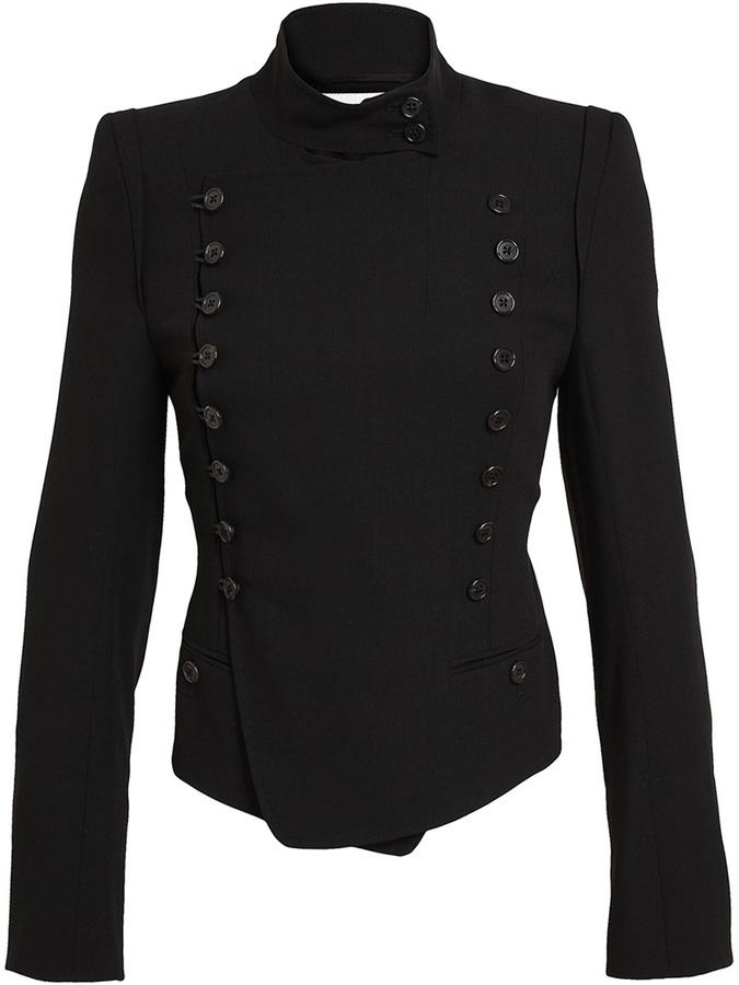 Ann Demeulemeester Virgin Wool Military Jacket