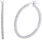 Bliss Sterling Silver & Cubic Zirconia Hoop Earring