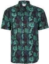 Topman Corsica Print Liberty Fabric Short Sleeve Smart Shirt