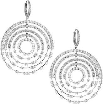Adriana Orsini Silvertone & Cubic Zirconia Orbiting Circle Drop Earrings