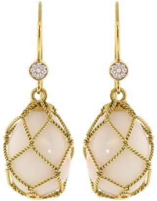 Verdura Coral Net Drop Earrings
