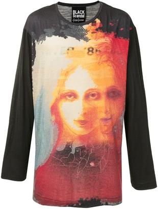 Yohji Yamamoto Uchida print jumper
