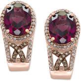 Effy EFFYandreg; Final Call Rhodolite Garnet (4-1/2 ct. t.w.) and Diamond (3/8 ct. t.w.) Drop Earrings in 14k Rose Gold
