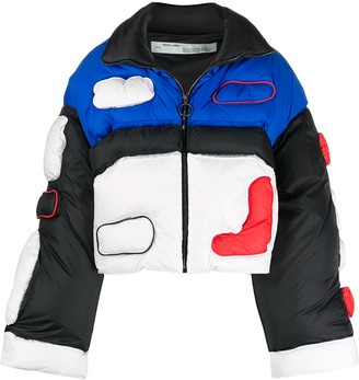 Off-White Graphic Print Puffer Jacket