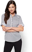 New York & Co. 7th Avenue - Madison Stretch Shirt - White - Stripe