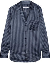 Equipment Keira Striped Silk-satin Shirt - Navy