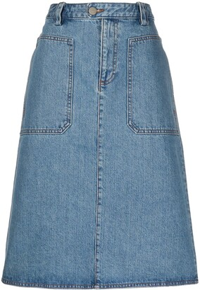 A.P.C. A-line denim skirt
