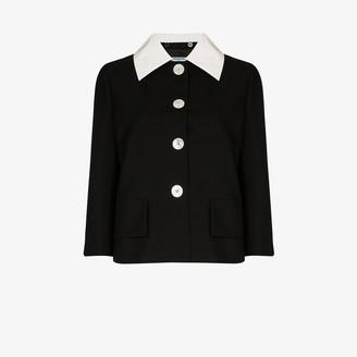Prada Contrast Collar Blazer