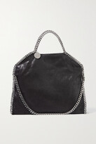 Stella McCartney The Falabella Medium Faux Brushed-leather Shoulder Bag - Black