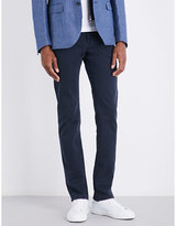 Corneliani Slim-fit tapered stretch-cotton trousers