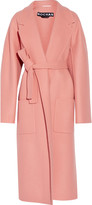Rochas Belted fleece wool coat
