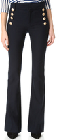 Derek Lam 10 Crosby Flare Trousers with Sailor Buttons