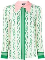 Elisabetta Franchi long sleeve chain print blouse