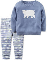 Carter's 2-Pc. Polar Bear Sweater & Fair Isle Pants Set, Baby Boys (0-24 months)