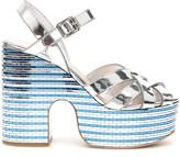 Miu Miu Mirror Platform Sandals