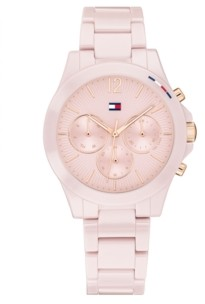 Tommy Hilfiger Women's Chronograph Blush Ceramic Bracelet Watch 38mm, Created for Macy's
