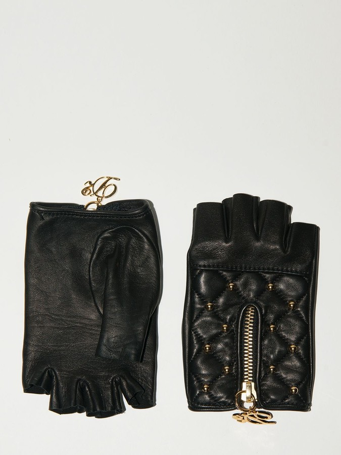 4a5373bea Womens Fingerless Leather Gloves - ShopStyle