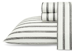 ED Ellen Degeneres Twill Stripe Charcoal King Sheet Set