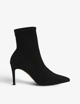 LK Bennett Allie stretch-suede heeled ankle boots