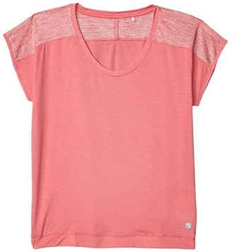 Puma Slouchy Tee (Rosewater/Rosewater Heather) Women's Clothing