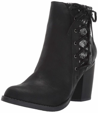 Sugar Women's Puckered Side Lace Up Lined Ankle Bootie Boot