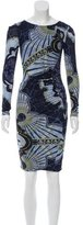Emilio Pucci Ruched Abstract Print Dress