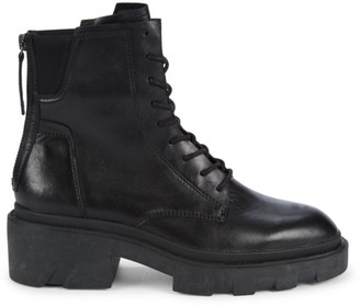 Ash Moody Leather Combat Boots