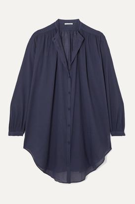 Skin - Brea Oversized Cotton-voile Kaftan - Navy