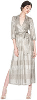 Alice + Olivia Katina Gathered Midi Dress Tie Belt