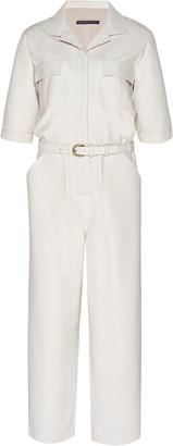 Zeynep Arçay Zeynep Arcay Belted Leather Utility Jumpsuit