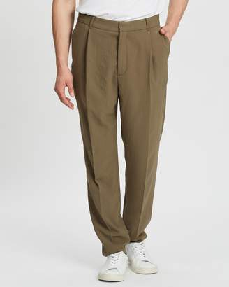 Band Of Outsiders Single Pleat Cropped Trousers