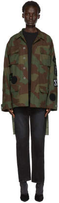 Off-White Green Camo Patches Field Jacket