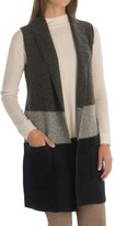 Tahari Long Color-Blocked Wool Vest (For Women)