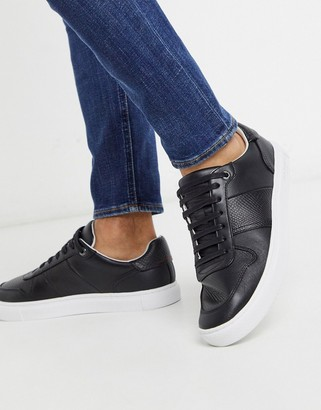 Ted Baker coppol sneakers in black leather