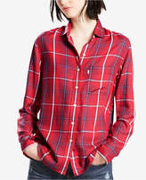 Levi's Boyfriend Plaid Button Up Shirt