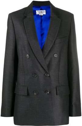 Victoria Victoria Beckham Double-Breasted Fitted Blazer