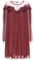 Chloé Lace-trimmed silk dress