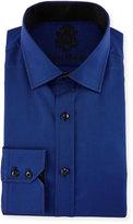 English Laundry Poplin Long-Sleeve Dress Shirt, Royal Blue