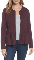 Women's Caslon Knit Peplum Jacket