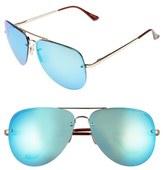 Quay 'Muse' 65mm Mirrored Aviator Sunglasses