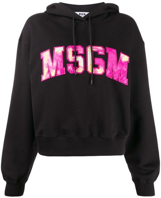 MSGM Embroidered Logo Hoodie