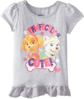 Freeze Little Girls' Paw Patrol Pawfectly Cute Toddler Girls Puff Tee with Tulle Ruffle Bottom
