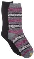 Gold Toe Women's 2-Pk. Fair Isle Ribbed Boot Socks