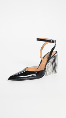 Area Crystal Fringe High Heels