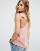 Honey Punch Frill Detail Cami Top With Tie Back