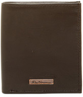 Ben Sherman Hackney Leather Slim Square Passcase Wallet