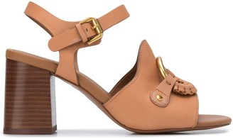 See by Chloe Braided-Detail Buckle-Strap Sandals