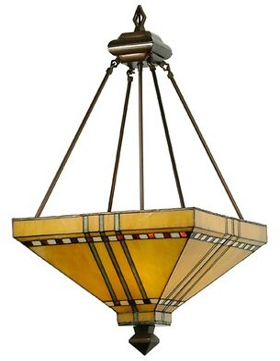 3 - Light Unique / Statement Bowl Pendant Meyda Tiffany