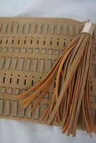 J Brand Weaved-Tassle Leather Clutch