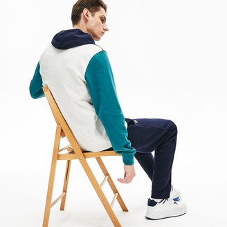 Lacoste Mens Cotton-Pique and French Terry Colorblock Sweatshirt